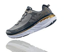 Hoka One One Mens Bondi 5 Running Shoe,  Cool Gray / Midnigh