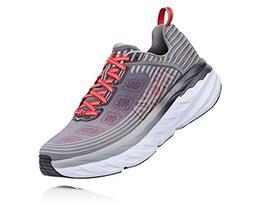 HOKA ONE ONE Men's Bondi 6 Running Shoe Alloy/Steel Grey Siz