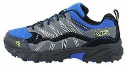 Fila Boy's, at Peake 16 Trail Running Sneaker, Grey, Size 5.
