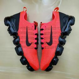 Boys Nike Air VaporMax Flyknit 3 Running Shoes Flash Crimson