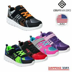 DREAM PAIRS Boys Girls Running Shoes Breathable Lightweight