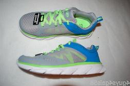 Boys Running Shoes GRAY LIME GREEN TURQUOISE Lightweight ATH