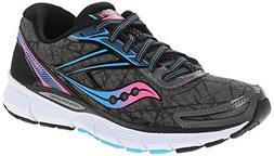 Saucony Women's Breakthru Running Shoe, Grey/Pink/Blue, 10.5