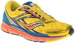 Saucony Men's Breakthru Running Shoe,Yellow/Blue/Orange,9.5
