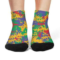 Women's Digital camo fashion compression slipper socks art c
