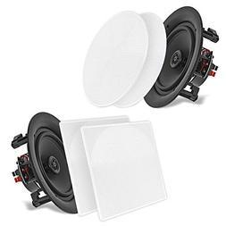 5.25'' In-Wall/In-Ceiling Dual Speakers  - 2-Way Woofer Spea