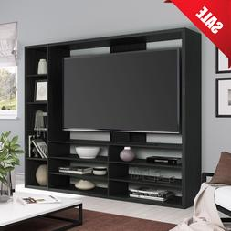 "Mainstays Entertainment Center for TVs up to 55"" Black TV St"