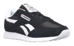d3feb4a41e9 Reebok Classic Nylon Black White Mens Running Tennis Shoes