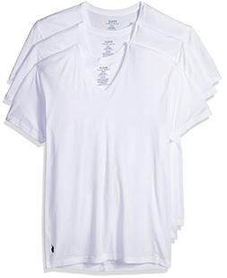 Polo Ralph Lauren Classic V-Neck T-Shirts 3-Pack, XXL, White