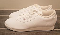 REEBOK Classic White Lace-Up Leather Running Shoes for Women
