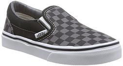 Boy's Vans 'Classic - Checker' Slip-On, Size 12.5 M - Black