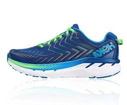 HOKA ONE ONE Men's Clifton 4 Running Shoe  US, True Blue/Jas