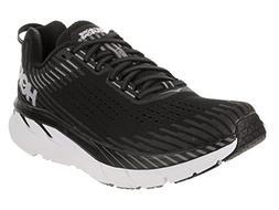 HOKA ONE ONE Women's Clifton 5 Running Shoe Black/White Size