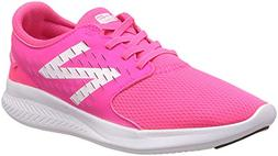 New Balance Girls' Coast V3 Running Shoe, Pink/White, 13.5 W