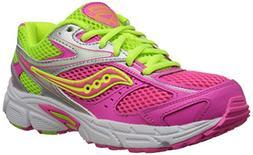 Saucony Girls' Cohesion 8 LTT Sneaker ,Pink/Citron,3.5 M US