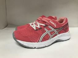 ASICS Contend 5 PS Running Shoe Pink Cameo/White Youth Size