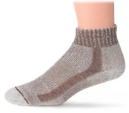 Thorlo Men's Coolmax Lt Hiker Mini Crew Sock, Walnut Heather