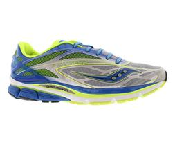 Saucony Men's Cortana 4 Running Shoe,Silver/Blue/Citron,8 M