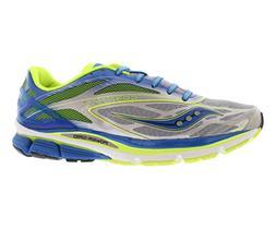 Saucony Men's Cortana 4 Running Shoe,Silver/Blue/Citron,8 M