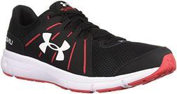 Under Armour Men's Dash 2 Running Shoe, Black /Red, 9
