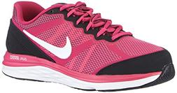 Girl's Nike Dual Fusion Run 3  Running Shoe Hot Pink/Black/F