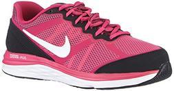 Girl's Nike Dual Fusion Run 3  Running Shoe Hot Pink/Black/F