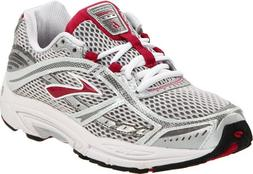 Brooks Women's Dyad 6 Running Shoe,Cerise/Metallic/Silver/Wh