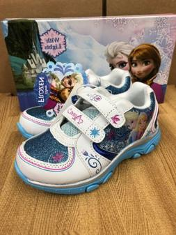 Disney Frozen Elsa-Anna Athletic Running Shoe With Lights Si