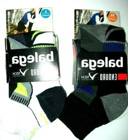 enduro v tech quarter crew running socks