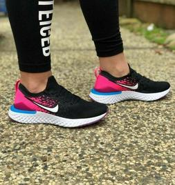 Nike Epic React Flyknit 2 Big Girl Women's Running Shoes Bla