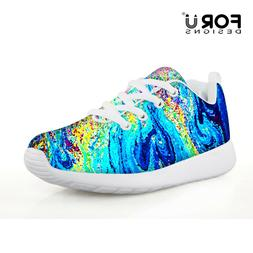 Fashion Colorful Kid Running Shoes Casual Outdoor Mesh Sneak