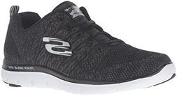 Skechers Sport Women's Flex Appeal 2.0 Fashion Sneaker, Blac