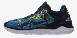 Nike Free RN 2018 GPX RS Floral Running Shoes Black White AV