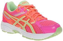 ASICS Gel Contend 3 GS Running Shoe , Hot Pink/Pistachio/Fie