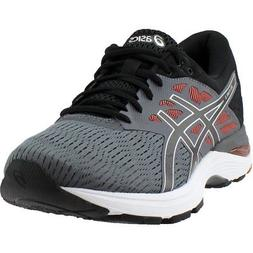 gel flux 5 running shoes black mens