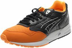 gel saga trail running shoes orange mens