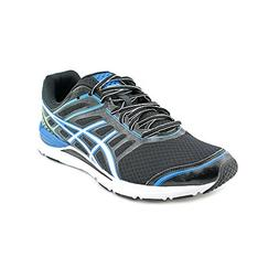 ASICS Men's Gel-Storm Running Shoe,Black/White/Blue,11.5 M U