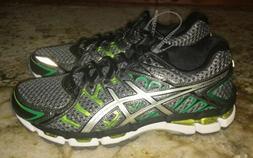 ASICS Gel Surveyor 2 Grey Black Green Running Shoes Sneakers