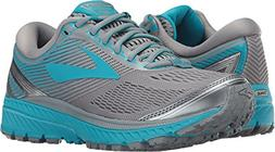 Brooks Women's Ghost 10 Primer Grey/Teal Victory/Silver 10.5