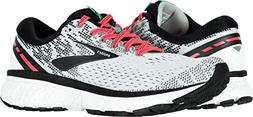 Brooks Women's Ghost 11 White/Pink/Black 10 B US