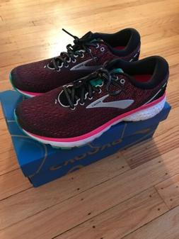 Brooks Ghost 11 Women's Running Shoes Black Pink Aqua Size 9
