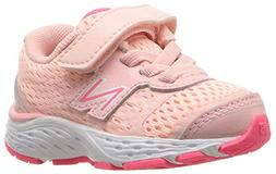 New Balance Girls' 680v5 Running Shoe, Himalayan Pink, 12.5