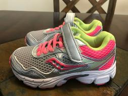 Saucony Girls' Cohesion 10 A/C Running Shoes Size 11 Toddler