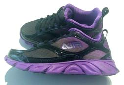 Girls Size 12,2 Sneakers FILA PURPLE BLACK PURPLE Running Tr