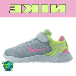 Nike Girls Size 2Y FREE RN 2018  Running Shoes AH3455 002 Pl