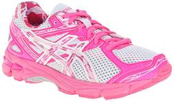 ASICS GT 1000 3 GS PR Running Shoe,White/Hot Pink/Pink Ribbo