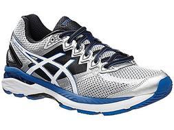 ASICS Men's GT 2000 4 Running Shoe, Silver/White/Royal, 7 4E