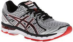 ASICS Men's GT-2000 2 Running Shoe,White/Black/Red Pepper,12