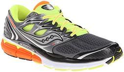 Saucony Men's Hurricane ISO-Series Running Shoe, Grey/Citron