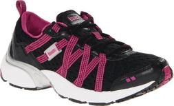 RYKA Women's Hydro Sport Water Shoe,Black/Dark Pink/Grey,7.5